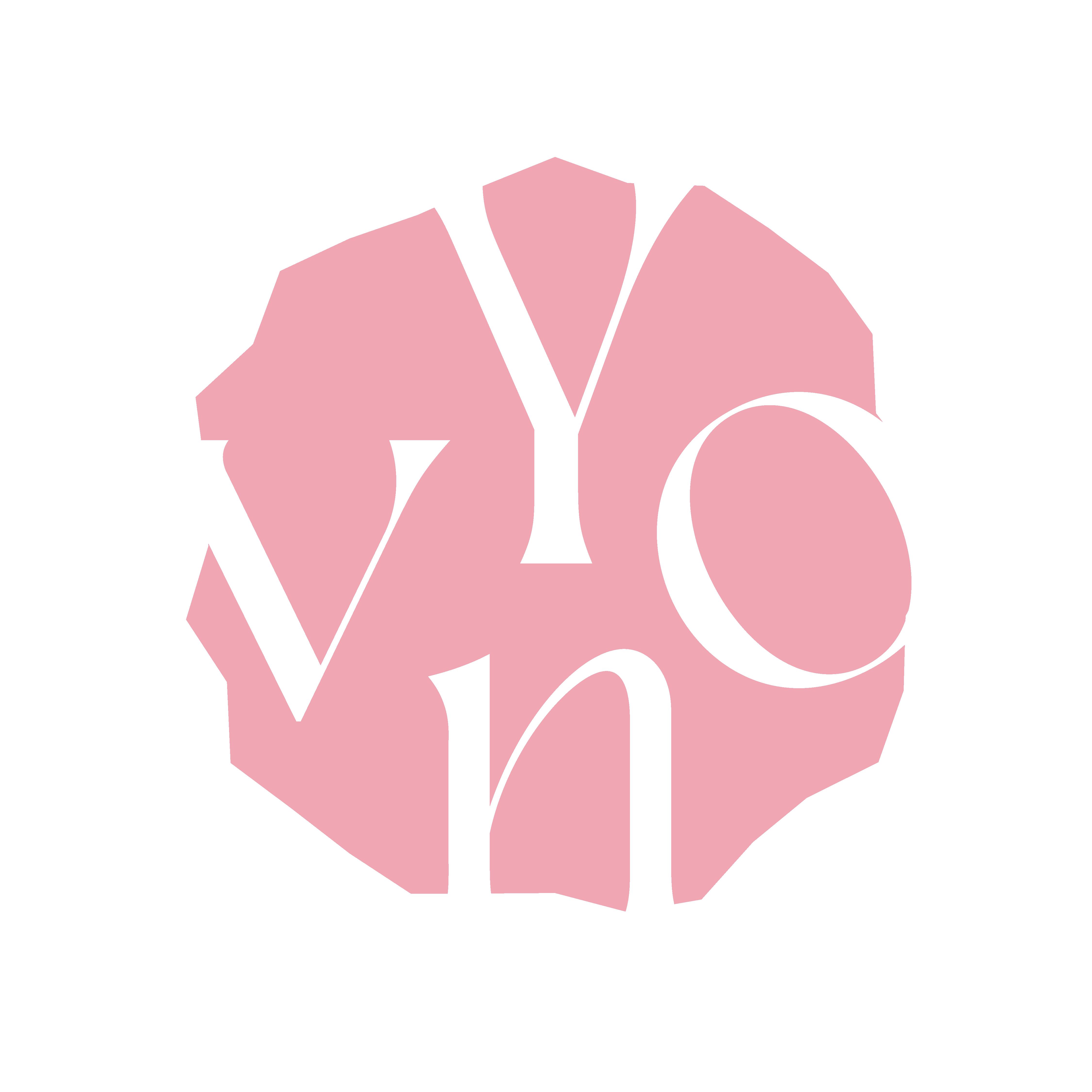 Logo Yvon van Bergen kunstenares intuïtief portret schilderen cursus lichtroze doux