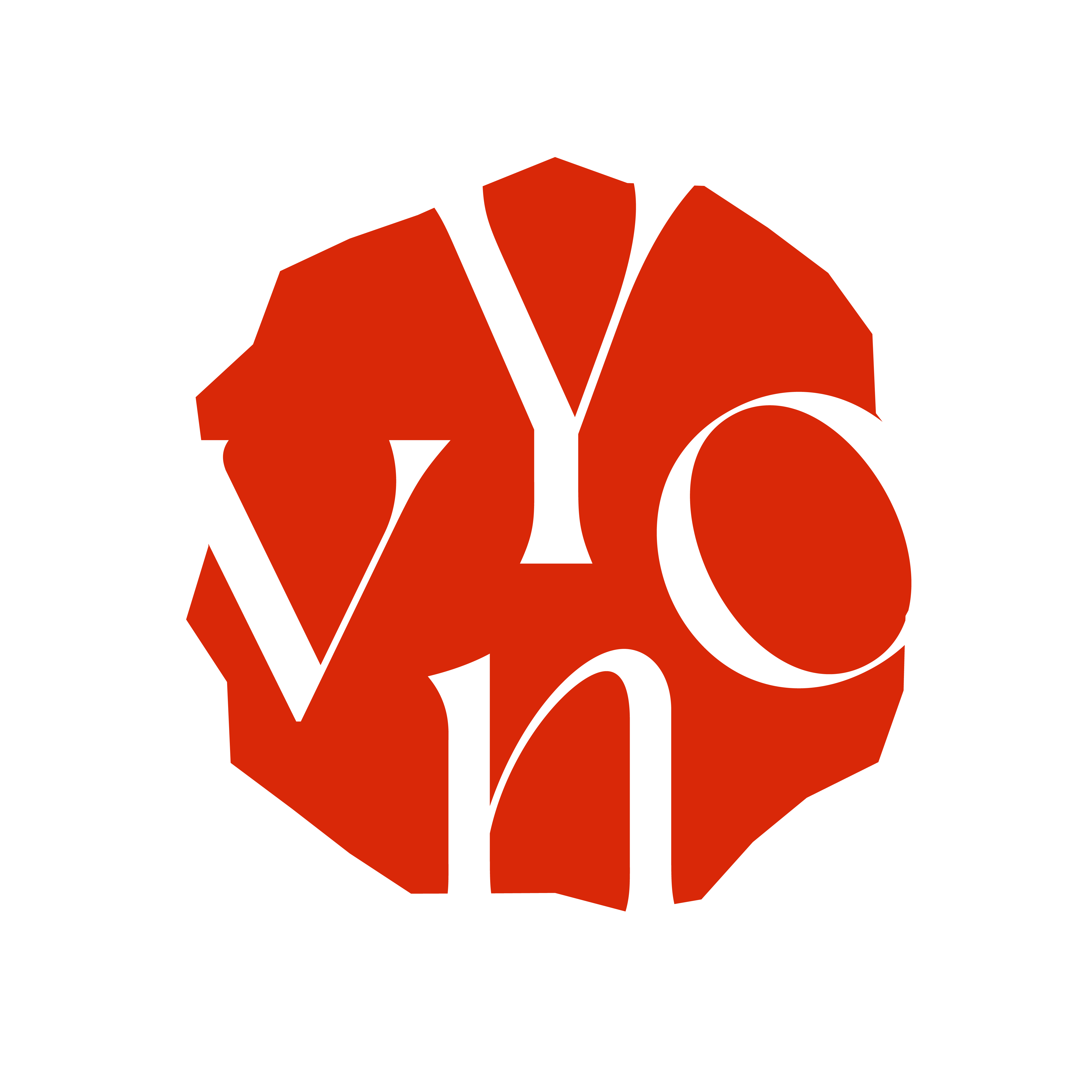 Logo Yvon van Bergen kunstenares intuïtief portret schilderen cursus rood rouge