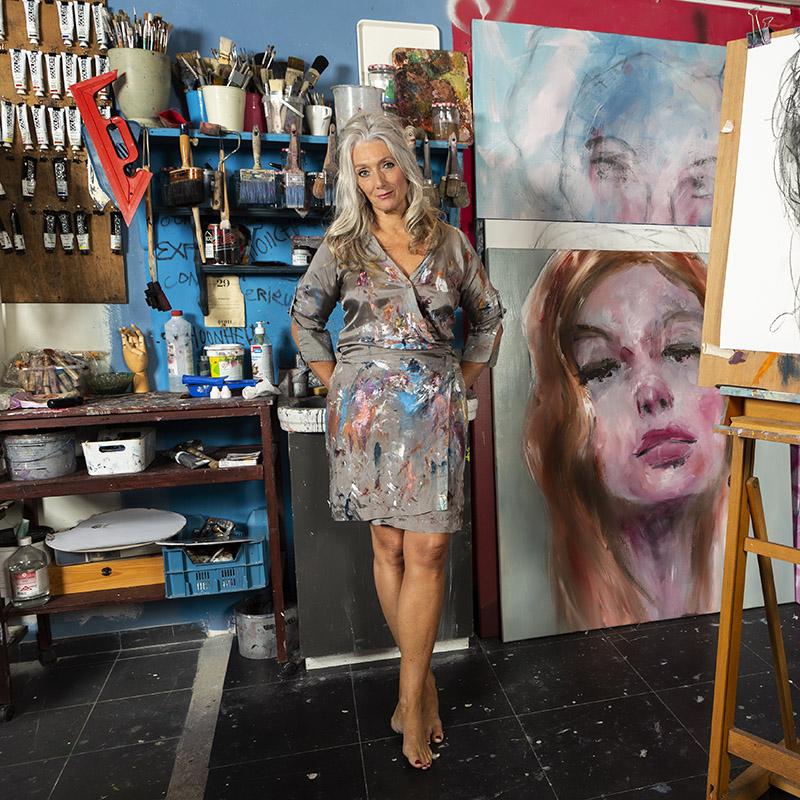 Vijfdaagse masterclasses intuïtief portretschilderen